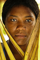Portrait of Brazilian young black woman, Maranhão State, Brazil.
