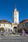 Germany, Bavaria, Middle Franconia, Ansbach: Herrieder Gate and tower, built 18th century | Deutschland, Bayern, Mittelfranken, Ansbach: Herrieder Tor und Turm, erbaut im 18. Jahrhundert