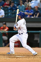 Chattanooga Lookouts outfielder Scott Schebler (8) during a game against the Birmingham Barons on April 24, 2014 at AT&T Field in Chattanooga, Tennessee.  Chattanooga defeated Birmingham 5-4.  (Mike Janes/Four Seam Images)