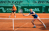 The Hague, Netherlands, 09 June, 2018, Tennis, Play-Offs Competition, Men's doubles: Arko Zoutendijk (back) and Boy Westerhof (NED)<br /> Photo: Henk Koster/tennisimages.com
