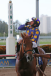 August 08, 2015: #3 Dogwood Trail (FL) with jockey Jesus Rios up, wins the Florida Sire Stakes Three Ring Division and trainer Stanley I Gold at Gulfstream Park in Hallandale Beach, FL. Liz Lamont/ESW/CSM