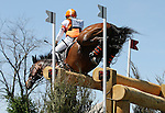 April 26, 2014: Rafferty's Rules and Sharon White compete in Cross Country at the Rolex Three Day Event in Lexington, KY at the Kentucky Horse Park.  Candice Chavez/ESW/CSM