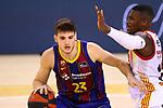Liga ACB-ENDESA 2020/2021. Game: 26.<br /> FC Barcelona vs Casademont Zaragoza: 107-88.<br /> Sergi Martinez vs Dylan Ennis