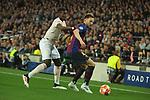 UEFA Champions League 2018/2019.<br /> Quarter-finals 2nd leg.<br /> FC Barcelona vs Manchester United: 3-0.<br /> Paul Pogba vs Ivan Rakitic.