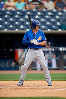 Durham Bulls Jason Coats (17) bats during an International League game against the Toledo Mud Hens on July 16, 2019 at Fifth Third Field in Toledo, Ohio.  Durham defeated Toledo 7-1.  (Mike Janes/Four Seam Images)