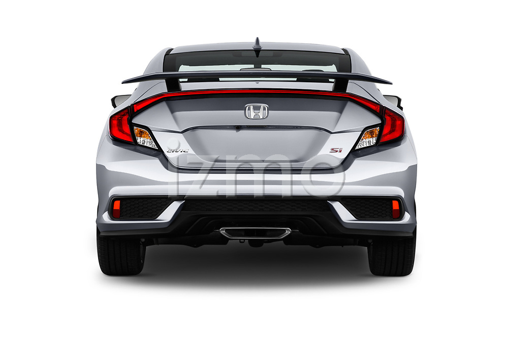 Straight rear view of a 2018 Honda Civic Si 2 Door Coupe stock images