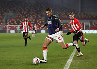 9th January 2021; Brentford Community Stadium, London, England; English FA Cup Football, Brentford FC versus Middlesbrough; Nathan Wood of Middlesbrough breaks forward