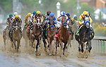 1 May 10: The field passes the stands for the first time for the 136th running of the Kentucky Derby at Churchill Downs in Louisville, Kentucky