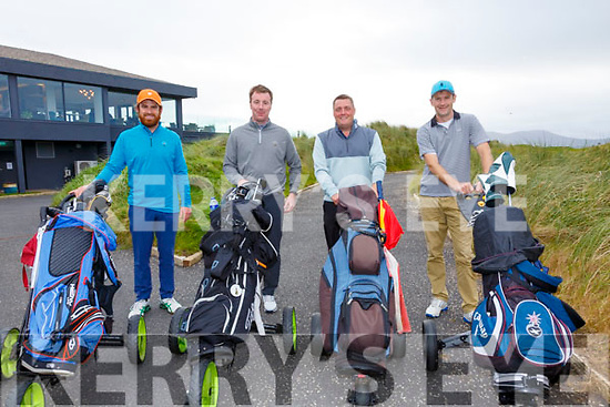 Finishing their second round of the Charlie Chaplin Am-Am on Saturday at Waterville Golf Links were l-r; Barry Madden, Stephen Curran, John Donovan & Niall O'Driscoll.