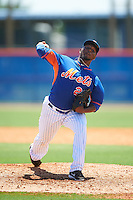 GCL Mets relief pitcher Yeudy Colon (22) during a game against the GCL Marlins on August 12, 2016 at St. Lucie Sports Complex in St. Lucie, Florida.  GCL Marlins defeated GCL Mets 8-1.  (Mike Janes/Four Seam Images)
