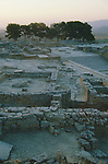 Crete, Greece, Phaestos, Minoan Ruins at sunrise, 1900 - 1600 BC era archeology, Europe,.
