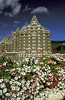 Banff Springs Hotel.  Banff National Park, Alberta, Canada.
