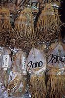 """Asie/Japon/Tokyo/Ueno: Le marché """"Ameyoko"""" - Détail de poulpes séchés"""