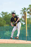 FCL Pirates Black pitcher Cristopher Cruz (30) during a game against the FCL Pirates Gold on July 2, 2021 at Pirate City in Bradenton, Florida.  (Mike Janes/Four Seam Images)