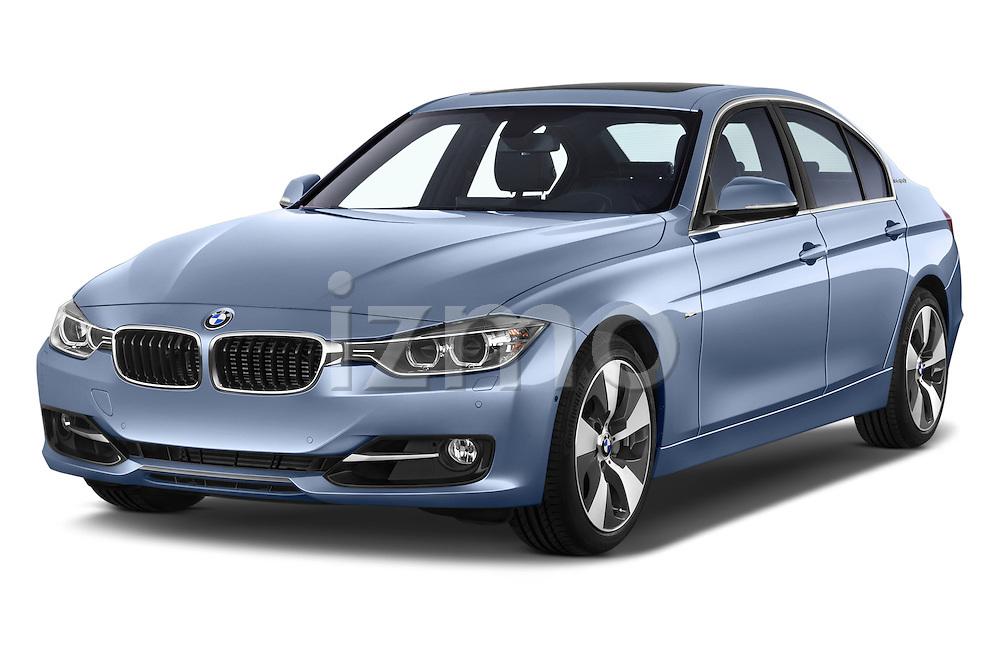 2014 BMW SERIES 3 Sport 4 Door Sedan 2WD Angular Front stock photos of front three quarter view