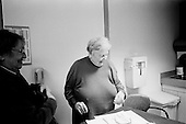 Chicago, Illinois<br /> USA<br /> December 17, 2009<br /> <br /> At the University of Chicago Medical Center Geraldine Martin, 80 years old, arrives and is prepared for open heart surgery to have a valve replaced and hole repaired. She is accompanied by her sister Helen Martin prior to the surgery.
