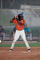 AZL Giants Orange Marco Luciano (10) at bat during an Arizona League game against the AZL Mariners on July 18, 2019 at the Giants Baseball Complex in Scottsdale, Arizona. The AZL Giants Orange defeated the AZL Mariners 7-4. (Zachary Lucy/Four Seam Images)