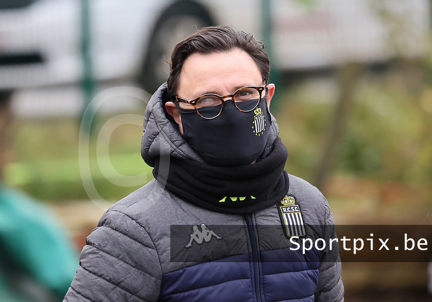 Head Coach Philippe Venturoso (Charleroi) picture before  a female soccer game between FC Femina White Star Woluwe and Sporting Charleroi on the 10 th matchday of the 2020 - 2021 season of Belgian Scooore Womens Super League , Saturday 19 th of December 2020  in Woluwe , Belgium . PHOTO SPORTPIX.BE | SPP | SEVIL OKTEM