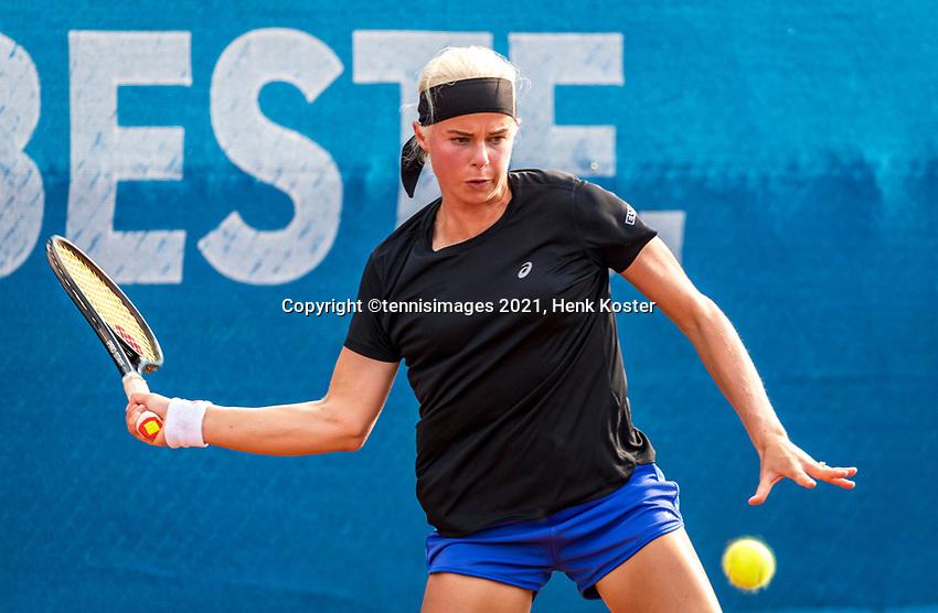 Amstelveen, Netherlands, 7 Juli, 2021, National Tennis Center, NTC, Amstelveen Womans Open, Eva Vedder (NED)<br /> Photo: Henk Koster/tennisimages.com