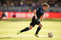 SAN JOSE, CA - SEPTEMBER 29: Tommy Thompson #22 of the San Jose Earthquakes during a Major League Soccer (MLS) match between the San Jose Earthquakes and the Seattle Sounders on September 29, 2019 at Avaya Stadium in San Jose, California.