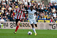 Saturday 19 October 2013 Pictured: ( L-R )  Craig Gardner and Nathan Dyer of Swansea<br /> Re: Barclays Premier League Swansea City vSunderland at the Liberty Stadium, Swansea, Wales