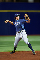 Tampa Bay Rays Michael Russell (22) during an instructional league game against the Boston Red Sox on September 24, 2015 at Tropicana Field in St Petersburg, Florida.  (Mike Janes/Four Seam Images)
