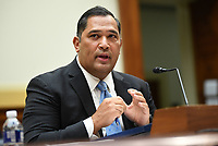 Brian Bulatao, Under Secretary of State for Management, testifies before a House Committee on Foreign Affairs hearing looking into the firing of State Department Inspector General Steven Linick, on Capitol Hill in Washington, D.C. on Wednesday, September 16, 2020. The foreign affairs committee issued the subpoenas as part of the panel's probe into accusations that Linick was fired while investigating Secretary of State Mike Pompeo's role in a controversial $8 billion weapons sale to Saudi Arabia. <br /> Credit: Kevin Dietsch / Pool via CNP /MediaPunch