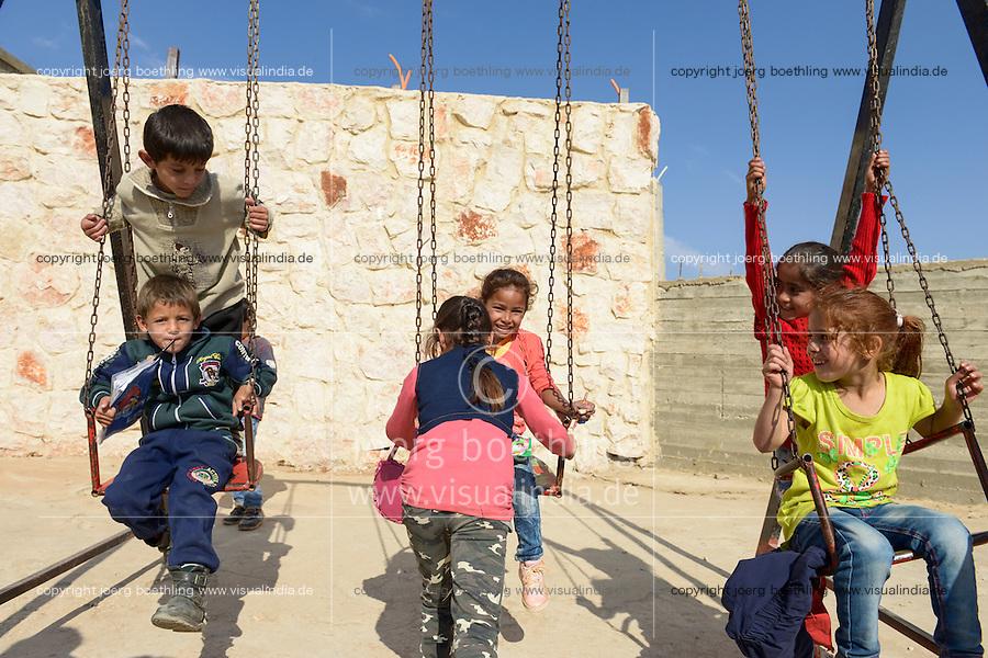 LEBANON Deir el Ahmad, a maronite christian village in Beqaa valley, school for syrian refugee children / LIBANON Deir el Ahmad, ein christlich maronitisches Dorf in der Bekaa Ebene, Schule der Good Shepherds Sisters der maronitischen Kirche fuer syrische Fluechtlingskinder