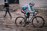 Denise Betsema (NED/Marlux-Bingoal)<br /> <br /> Superprestige cyclocross Hoogstraten 2019 (BEL)<br /> Women's Race<br /> <br /> ©kramon
