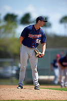 Minnesota Twins Brandon Poulson (55) during a minor league Spring Training intrasquad game on March 15, 2016 at CenturyLink Sports Complex in Fort Myers, Florida.  (Mike Janes/Four Seam Images)