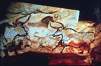 World Civilization:  Paleolithic-- Hall of Bulls, Lascaux, circa 12,000 B.C. Lascaux is a complex of caves in Southwestern France known for its Paleolithic cave paintings.