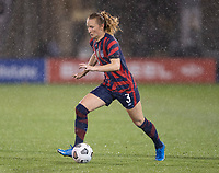 EAST HARTFORD, CT - JULY 1: Samantha Mewis #3 of the USWNT dribbles the ball during a game between Mexico and USWNT at Rentschler Field on July 1, 2021 in East Hartford, Connecticut.