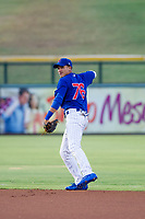 AZL Cubs second baseman Fidel Mejia (76) warms up between innings against the AZL Giants on July 17, 2017 at Sloan Park in Mesa, Arizona. AZL Giants defeated the AZL Cubs 12-7. (Zachary Lucy/Four Seam Images)