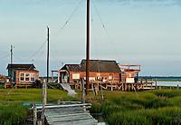 Rustic salt marsh bay shack, Wildwood, NJ, USA