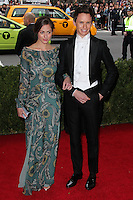 """NEW YORK CITY, NY, USA - MAY 05: Hannah Bagshawe, Eddie Redmayne at the """"Charles James: Beyond Fashion"""" Costume Institute Gala held at the Metropolitan Museum of Art on May 5, 2014 in New York City, New York, United States. (Photo by Xavier Collin/Celebrity Monitor)"""