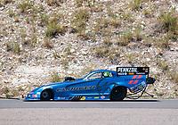 Jul 21, 2019; Morrison, CO, USA; NHRA funny car driver Matt Hagan during the Mile High Nationals at Bandimere Speedway. Mandatory Credit: Mark J. Rebilas-USA TODAY Sports
