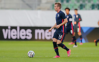 ST. GALLEN, SWITZERLAND - MAY 30: Jackson Yueill #14 of the United States moves with the ball during a game between Switzerland and USMNT at Kybunpark on May 30, 2021 in St. Gallen, Switzerland.