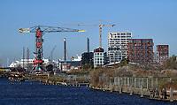 Nederland  Amsterdam -  2020.   Amsterdam-Noord. Nieuwbouw bij de NDSM Werf.  Foto : ANP/ HH / Berlinda van Dam