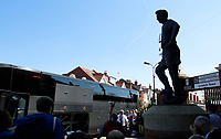 Johnny Haynes oversees Fulham FC arriving prior to the Sky Bet Championship match between Fulham and Ipswich Town at Craven Cottage, London, England on 8 April 2017. Photo by Carlton Myrie / PRiME Media Images.