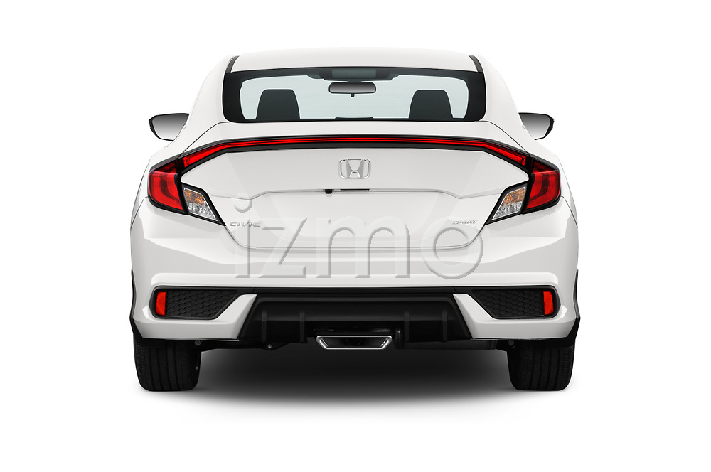 Straight rear view of a 2019 Honda Civic-Coupe Sport 2 Door Coupe stock images