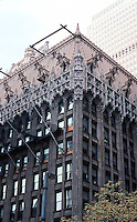 PA.: Pittsburgh--Union Trust Bldg., 1916. Now Two Mellon Bank Center. Scaffolding over facade cleaning, 2001.