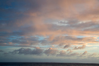 Sunset clouds over Hawaii