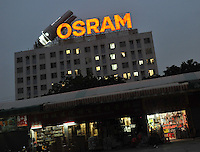 The Osram factory in Foshan, Guangdong Province, China. Osram makes light-bulbs, including energy saving light-bulbs that use mercury as the active component.
