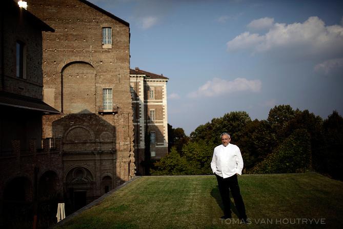 Chef Davide Scabin on the roof of Cobal.zero in Rivoli, Italy on Sept. 16, 2011.