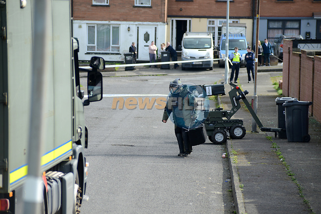 Gardaí attended the scene of an incident in the Moneymore residential area of Drogheda, Co. Louth. At approximately 10.20am this morning, 18th March 2021 Gardaí received reports of the discovery of a suspicious device in this area.<br /> <br /> The Armed Support Unit attended the scene as well as the Army Explosive Ordnance Disposal Unit are en route. The area was cordoned off and surrounding areas were evacuated as a precaution.<br /> <br /> The device was deemed to be non-viable by the EOD Unit.<br /> <br /> Picture Andy Spearman | Newsfile