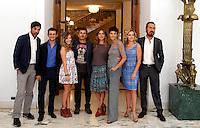 """20130923 ROMA-SPETTACOLI: PHOTOCALL SUL SET DI """"TUTTA COLPA DI FREUD"""""""