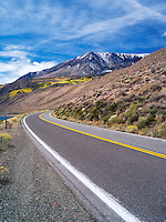 Road in June Lakes Loupe. Sierra Nevada Mountains, California