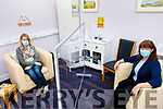 Siobhan McSweeney and Sharon Villa in the consultation room in Recovery Haven