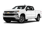 Stock pictures of low aggressive front three quarter view of 2020 Chevrolet Silverado-1500 LT 4 Door Pick-up Low Aggressive