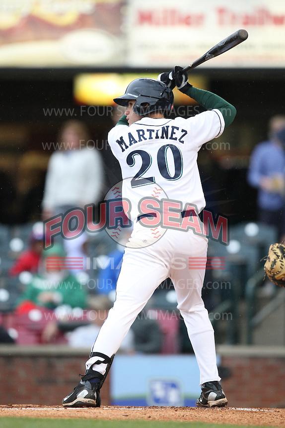 April 20, 2010: J.D. Martinez (20 ) of the Lexington Legends at Applebee's Park in Lexington, KY. The Legends are the Class A affiliate of the Houston Astros. Photo by: Chris Proctor/Four Seam Images